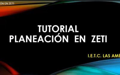 Planeación en Zeti
